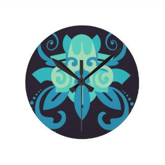 Abstraktion zwei Poseidon Runde Wanduhr