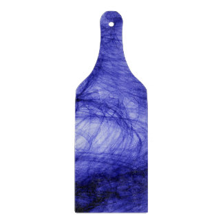 Abstraktions-Kunst-Blaubelag Schneidebrett