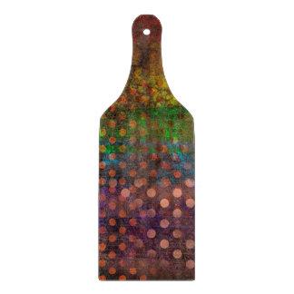 Abstraktions-Kunst farbige Schmutz-Brown-Tupfen Schneidebrett