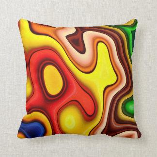 Abstraktions-Kunst-Konturn-Muster Kissen