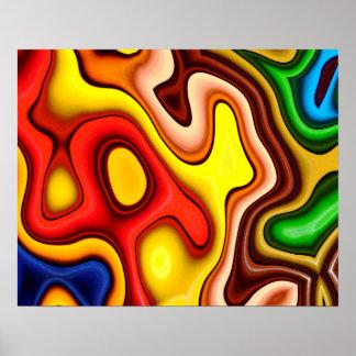 Abstraktions-Kunst-Konturn-Muster Poster
