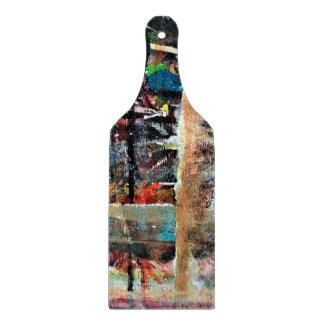 Abstraktions-Kunst-mehrfarbiger Hintergrund Schneidebrett