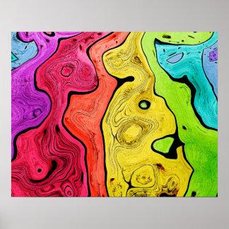 Abstraktions-Muster-Konturn-Art hell und Farbe Poster
