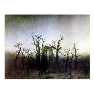 Abtei in einem Eichen-Wald durch Caspar David Postkarte