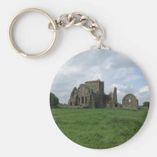 Abtei-Iren Irlands Hore ruinieren Felsen von Schlüsselanhänger