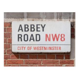 Abtei-Straße London Postkarte