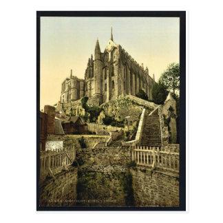 Abtei von den Ramparts, Mont St. Michel, Postkarte