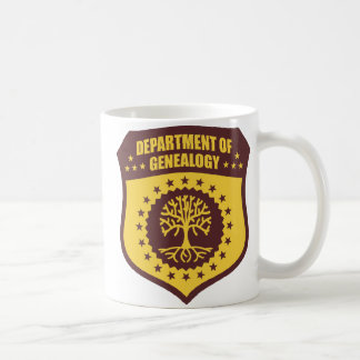 Abteilung der Genealogie Kaffeetasse