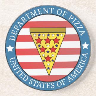 Abteilung der Pizza Sandstein Untersetzer