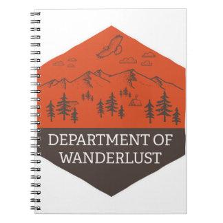 Abteilung von Wanderlust Notizblock