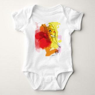 abtract Ganesha Malereien Baby Strampler