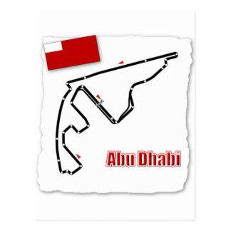 Abu Dhabi GP-Stromkreis Postkarte