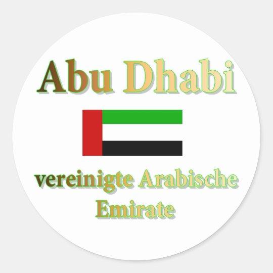 Abu Dhabi Runder Aufkleber