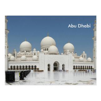 Abu Dhabi Vintage Reise-Tourismus-Anzeige Postkarte
