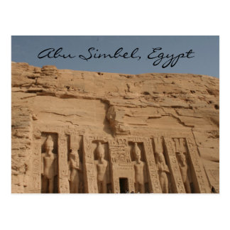 abu simbel großer Tempel Postkarte