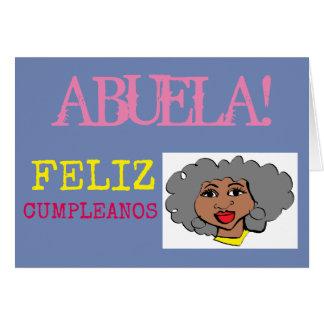 abuela FELIZ CUMPLEANOS Karte
