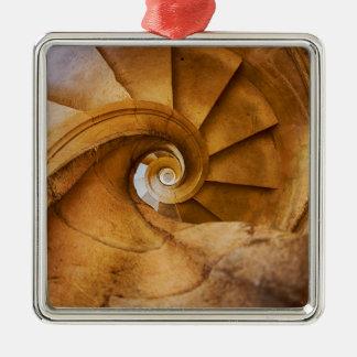 Abwärts spirl Treppenhaus, Portugal Silbernes Ornament