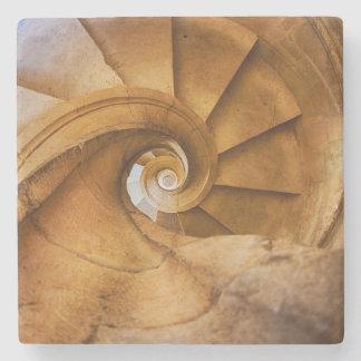 Abwärts spirl Treppenhaus, Portugal Steinuntersetzer