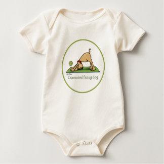 Abwärtsgerichteter Hund - Yogababy Baby Strampler