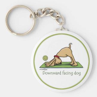 Abwärtsgerichteter HundeCartoon Schlüsselanhänger