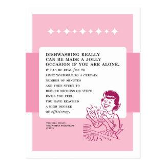 Abwasch kann Spaß-Vintager schlechter Rat sein Postkarten