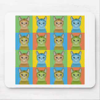 Abyssinische Katzen-Pop-Art Mauspad