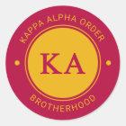 Abzeichen des Kappa-Alpha Auftrags-| Runder Aufkleber