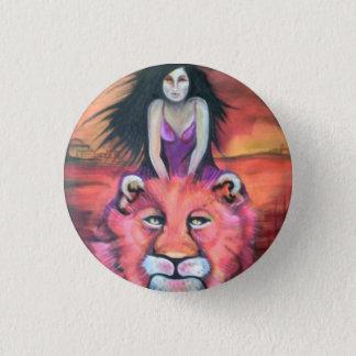Abzeichen: Katzen-Frau Runder Button 2,5 Cm