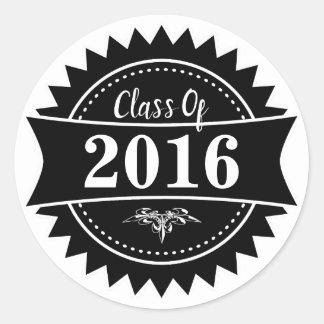 Abzeichen-Klasse von 2016 Runder Aufkleber