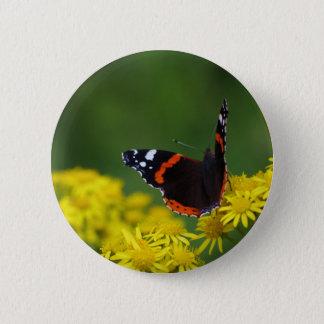 Abzeichen roten Admiral-Schmetterling Runder Button 5,7 Cm