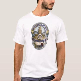 Abzeichen-Schädel T-Shirt