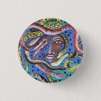 Abzeichen: Schlangen-Frau Runder Button 2,5 Cm