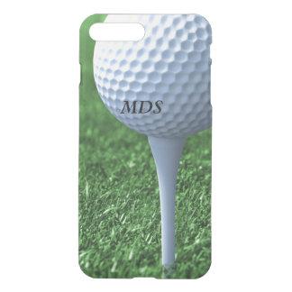 Abzweigen weg vom Golfball-Monogramm klar iPhone 8 Plus/7 Plus Hülle