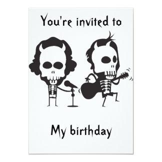 AC/DC Geburtstag Individuelle Einladungskarte