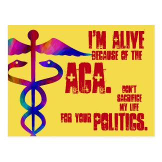 ACA mein Leben Ihre Politik-Postkarte Postkarte