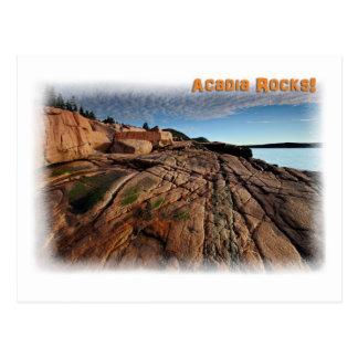 Acadia-Felsen! Postkarte