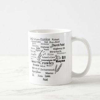 Acadia-Gemeinde-Louisianastadt-u. -straßen-Tasse Kaffeetasse