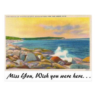 Acadia national. Park, Bar-Hafen, Maine Postkarte