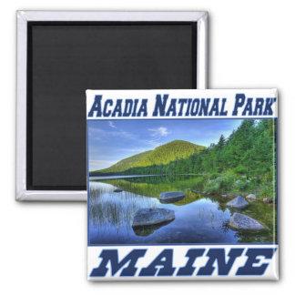 Acadia-Nationalpark - Maine-Magnet Quadratischer Magnet