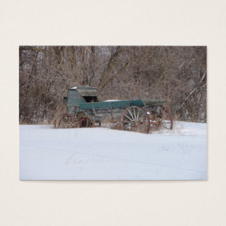 ACEO-, alter Winter-Lastwagen-Minidruck Visitenkarte
