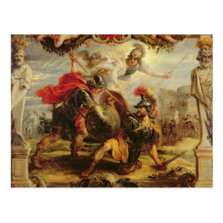 Achilleus, der Hector, 1630-32 besiegt Postkarte