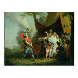 Achilleus hat eine Debatte mit Agamemnon, 1776 Postkarte