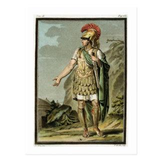 Achilleus in der Rüstung, Kostüm für 'Iphigenia in Postkarte