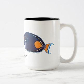 Achilleus u. Whitecheek Surgeonfishes Zweifarbige Tasse