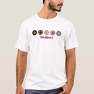 Achse u. Allies.org-Land-Markierungen (blau) T-Shirt
