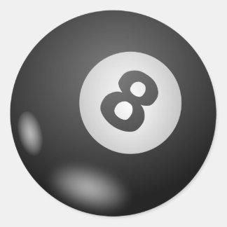Acht - 8 - Ball Runder Aufkleber