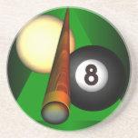 Acht Ball-Sandstein-Untersetzer