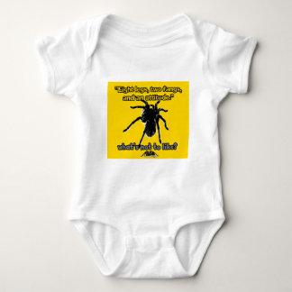 Acht Beine, zwei Reißzähne und Haltung Baby Strampler