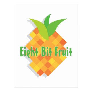Acht Bit-Frucht Postkarte
