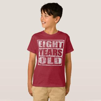 Acht Jahre alt - glückliches 8. T-Shirt